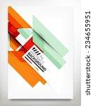 flyer  brochure design template ... | Shutterstock .eps vector #234655951