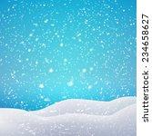Snowfall And Drifts. Vector...