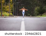 Businesswoman Walking On The...