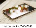digital tablet over laptop    Shutterstock . vector #234665341