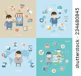 flat design concept of business ... | Shutterstock .eps vector #234680845