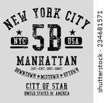 new york city vector art | Shutterstock .eps vector #234681571