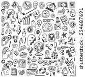 science   thinking    doodles... | Shutterstock .eps vector #234687691