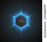 abstract vector dark background ... | Shutterstock .eps vector #234688399