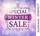 winter special sale offer... | Shutterstock .eps vector #234694177