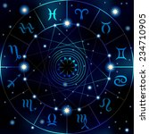 circle with signs of zodiac on... | Shutterstock .eps vector #234710905