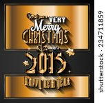 2015 new year and happy... | Shutterstock .eps vector #234711859