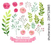 vector floral set. colorful... | Shutterstock .eps vector #234712885