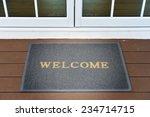 welcome door mat | Shutterstock . vector #234714715