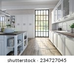 luxurious kitchen with... | Shutterstock . vector #234727045