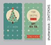 cozy christmas card with best... | Shutterstock .eps vector #234729241