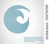 round shape. logo design... | Shutterstock .eps vector #234732589