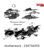 mountains ink background.... | Shutterstock .eps vector #234736555