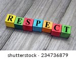 concept of respect word on... | Shutterstock . vector #234736879