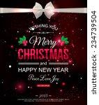 merry christmas celebration... | Shutterstock .eps vector #234739504