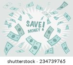 save money business background. ... | Shutterstock .eps vector #234739765