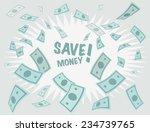 save money business background. ... | Shutterstock .eps vector #234739765