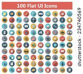 set of modern icons in flat... | Shutterstock . vector #234740569