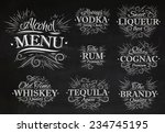 set alcohol menu beverages... | Shutterstock .eps vector #234745195