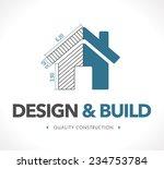 logo   design and build | Shutterstock .eps vector #234753784