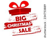 big christmas sale banner  ... | Shutterstock .eps vector #234753889