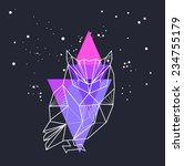 vector hipster abstract... | Shutterstock .eps vector #234755179