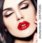 high fashion look.glamor... | Shutterstock . vector #234755281