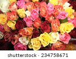 rose bouquets for women's day | Shutterstock . vector #234758671