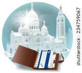 organizer with a flight ticket... | Shutterstock .eps vector #234759067