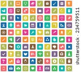 100 art  design icons big... | Shutterstock . vector #234759511