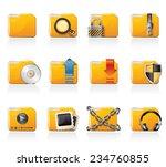 folder icons | Shutterstock .eps vector #234760855