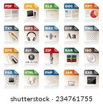 file format icons | Shutterstock .eps vector #234761755