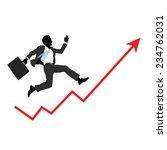financial success  running man... | Shutterstock .eps vector #234762031