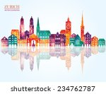 zurich switzerland city... | Shutterstock .eps vector #234762787