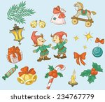 christmas decoration items | Shutterstock . vector #234767779