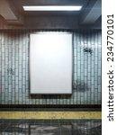 big vertical poster on metro...   Shutterstock . vector #234770101