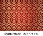 gold damask pattern  | Shutterstock .eps vector #234775441