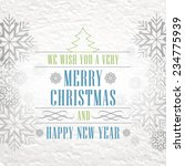 christmas vintage background... | Shutterstock .eps vector #234775939