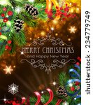abstract christmas background... | Shutterstock .eps vector #234779749