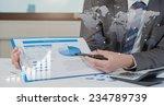 businessman show analyzing... | Shutterstock . vector #234789739