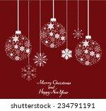 vector snowflake christmas tree ... | Shutterstock .eps vector #234791191