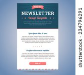 newsletter design template for... | Shutterstock .eps vector #234796291