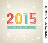 happy new year 2015. holiday... | Shutterstock .eps vector #234801601