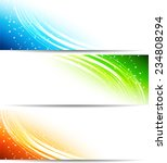 color banner with transparent... | Shutterstock .eps vector #234808294