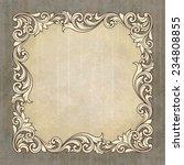 vintage border frame engraving... | Shutterstock . vector #234808855