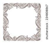 vintage baroque border frame... | Shutterstock . vector #234808867