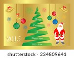 merry christmas.happy new 2015... | Shutterstock .eps vector #234809641