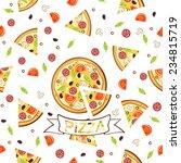 pizza pattern.vector seamless... | Shutterstock .eps vector #234815719