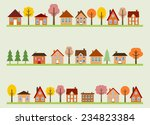 small town street view with... | Shutterstock .eps vector #234823384