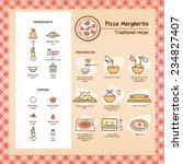 pizza margherita traditional... | Shutterstock .eps vector #234827407